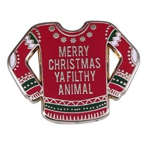 Jewelry - Merry Xmas Ya Filthy Animal Home Alone Lapel Pin